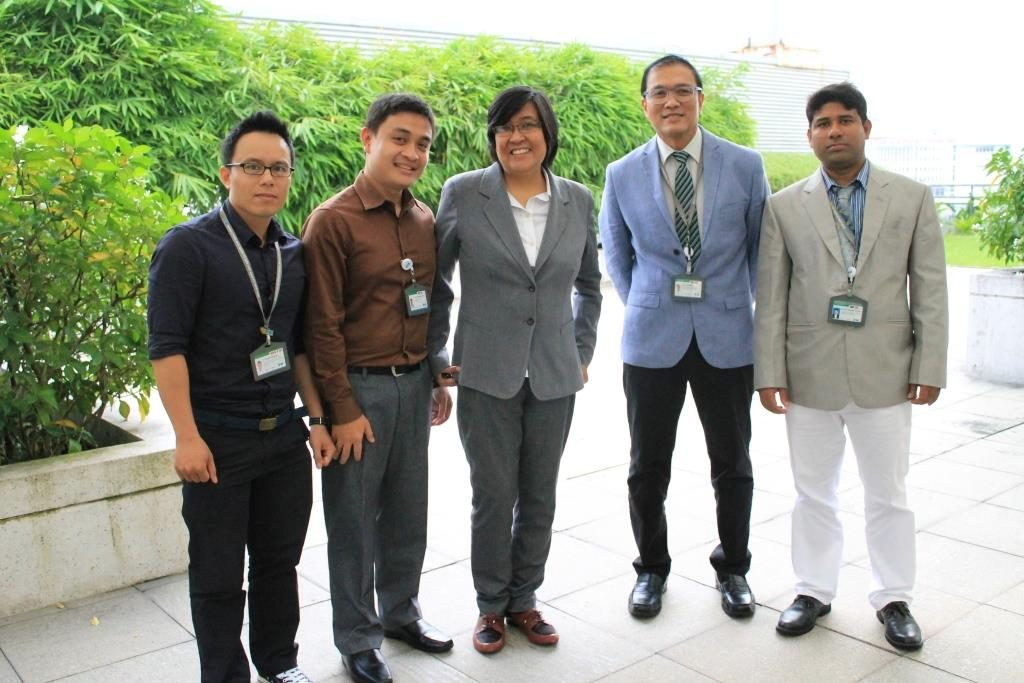 FV Hospitals Quality Assurance Team. From left to right: Dr. Nguyen Hung Anh, Performance Improvement Manager; Mr. Jonathan Carretas, Risk Manager; Ms. Leah Quiroz, Patient Safety Manager; Mr. Craig Stalker, Compliance Manager; Dr. Juan Lucas Rosas, QA Director; Md. Mostafizur Rahman, Medical Records Manager