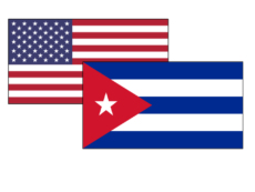 U.S. and Cuba flags pictured here