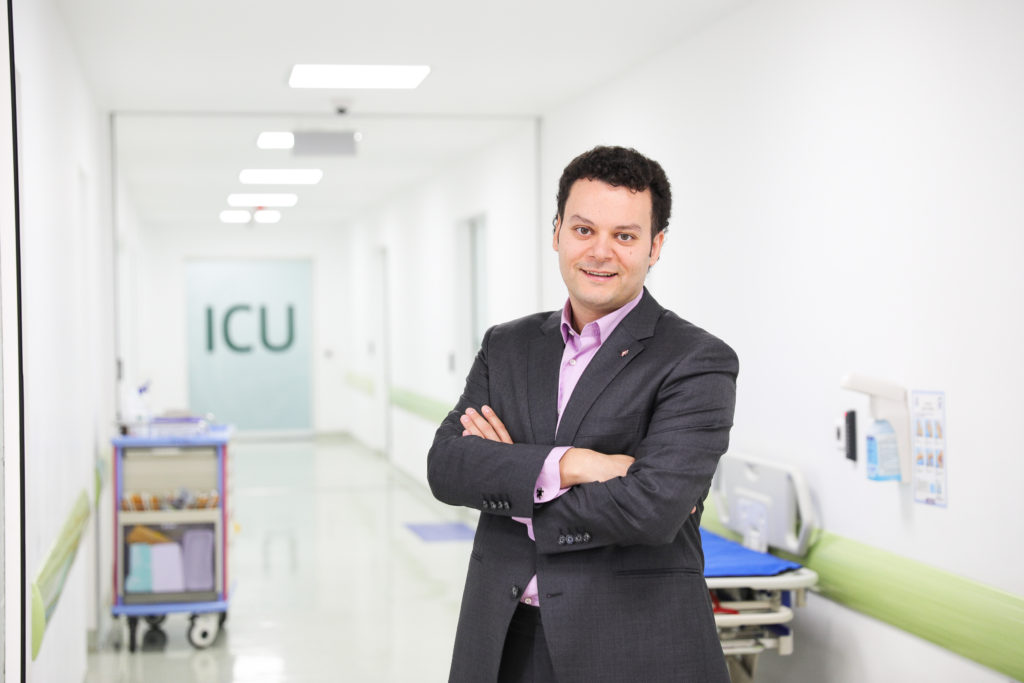 "As CEO of Romania's Regina Maria healthcare network, Fady Chreih emphasizes preventive care.""What we do as a company is try to convince people to go to the doctor when they are in better shape,"" he says, ""so they won't reach hospital facilities."" Photo courtesy of Regina Maria"