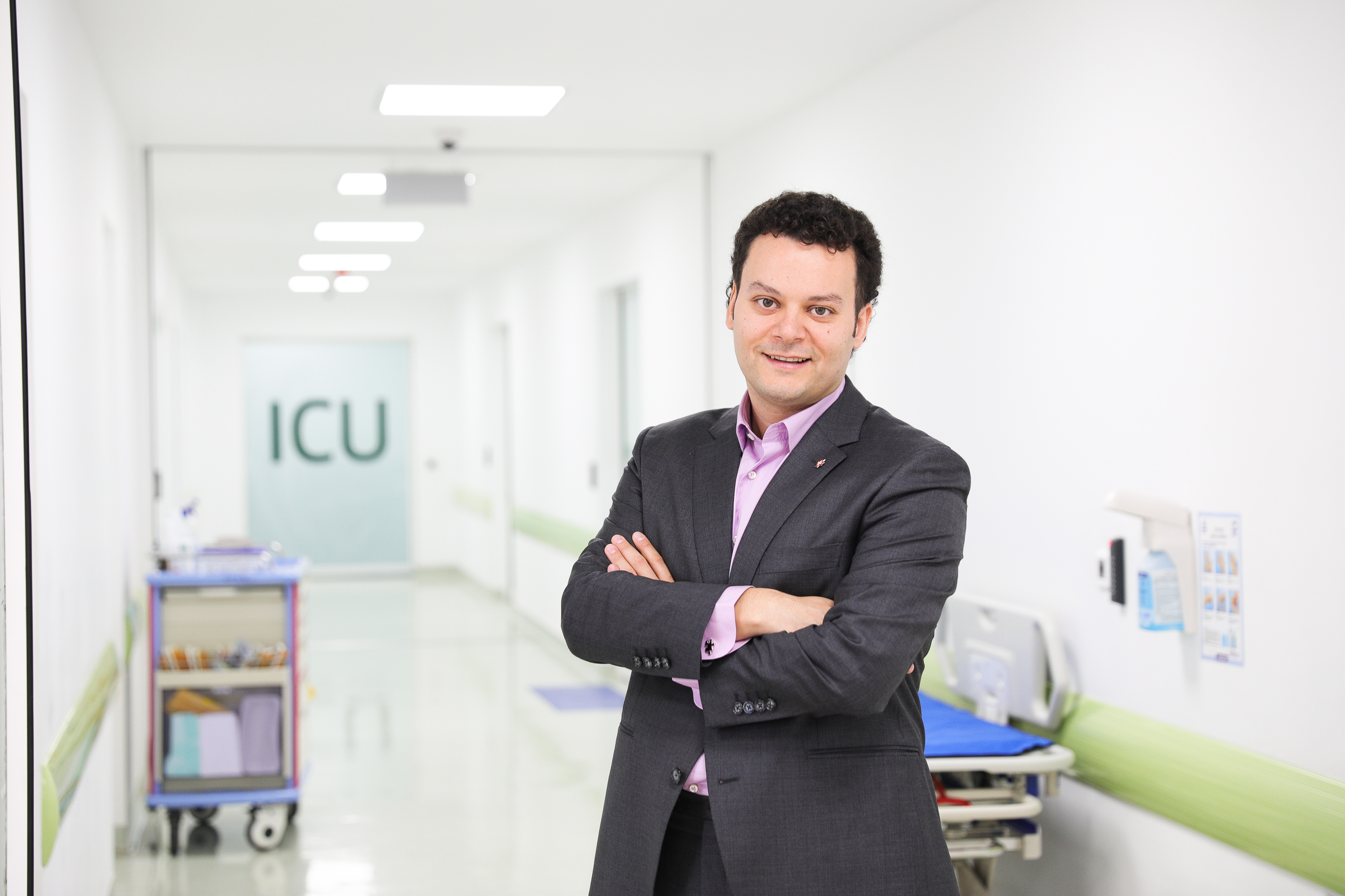 """As CEO of Romania's Regina Maria healthcare network, Fady Chreih emphasizes preventive care.""""What we do as a company is try to convince people to go to the doctor when they are in better shape,"""" he says, """"so they won't reach hospital facilities."""" Photo courtesy of Regina Maria"""