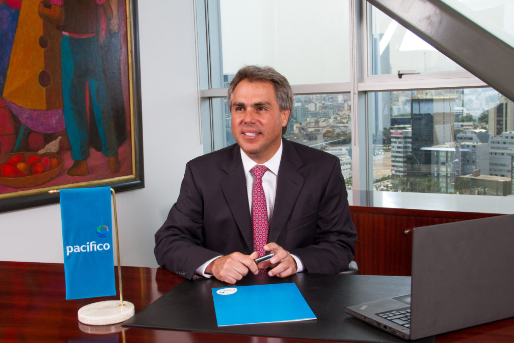 Guillermo Garrido-Lecca, pictured here, is the general manager of Pacifico Salud, a leading insurance company in Peru.